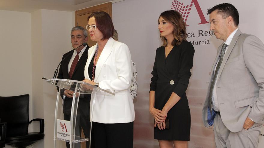 Isabel Franco, diputada de Ciudadanos, tras la investidura fallida del popular Fernando López Miras apoyada por los naranjas