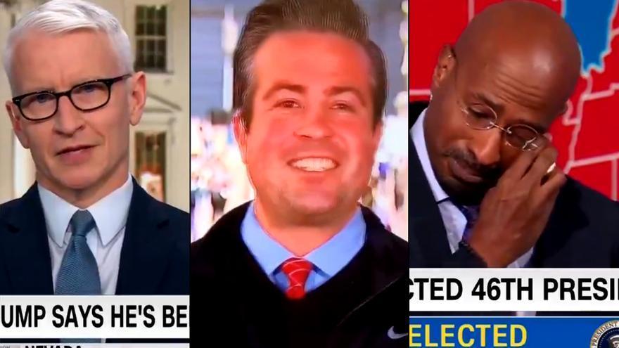 Momentazos televisivos de la victoria de Biden