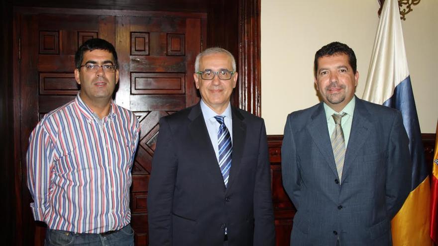 De izquiera a derecha: Amado González, Domingo Álvarez y Juan José Cabrera.
