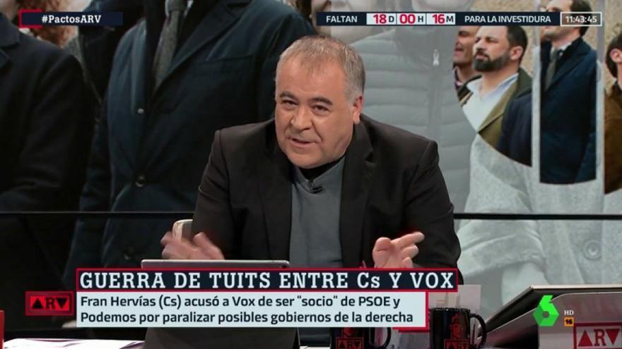 Ferreras compara al community manager de Vox con el personaje de Yolanda Ramos en 'Paquita Salas'