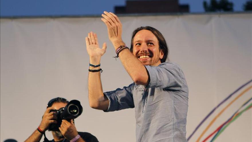 El secretario general de Podemos, Pablo Iglesias, en el Foro por el Cambio. / Efe