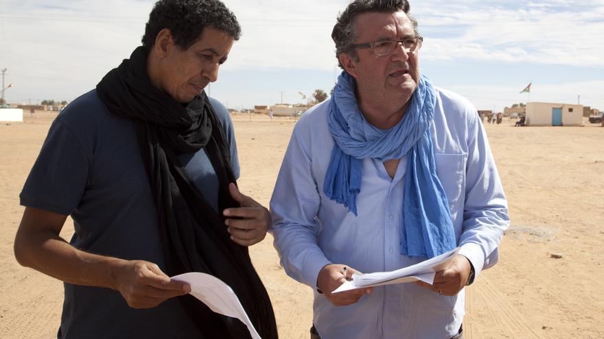 A la derecha Pepe Taboada, presidente de CEAS Sáhara.