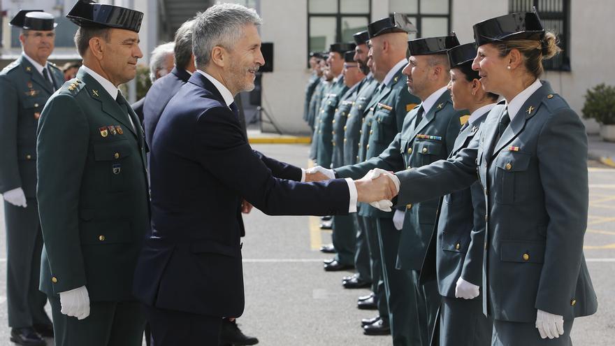 """Marlaska recuerda que la Guardia Civil es la institución """"más valorada"""" por los españoles en su 175º aniversario"""