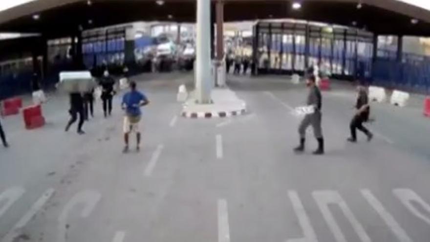 Incidente en la frontera de Melilla
