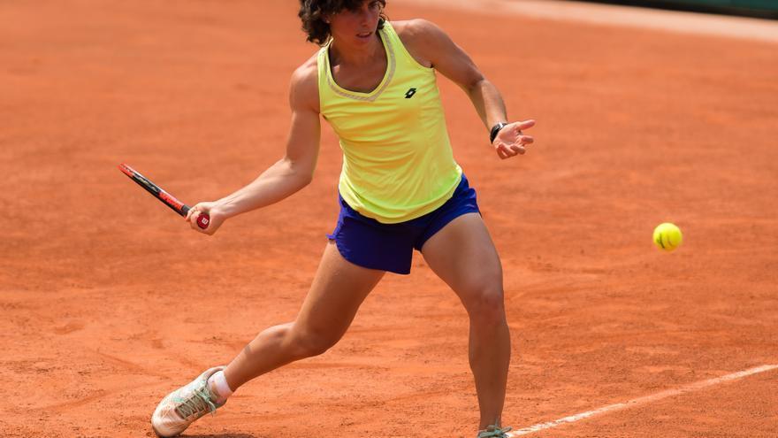 Resultado de imagen de Carla Suárez pasa la primera ronda de Roland Garros por la vía rápida