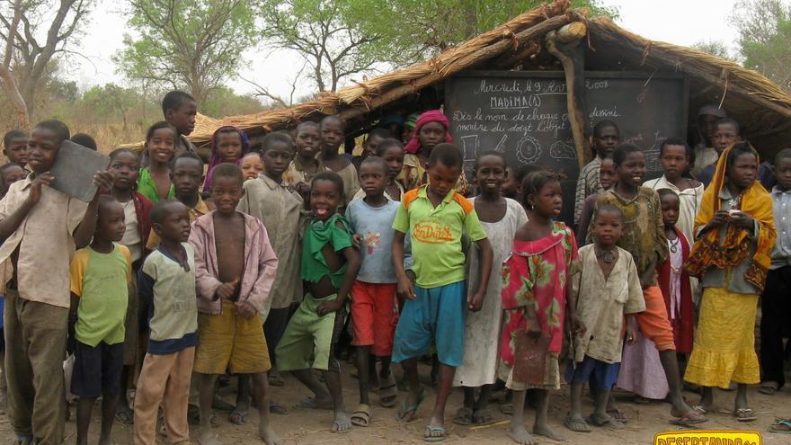 Niños en la escuela de Birao.