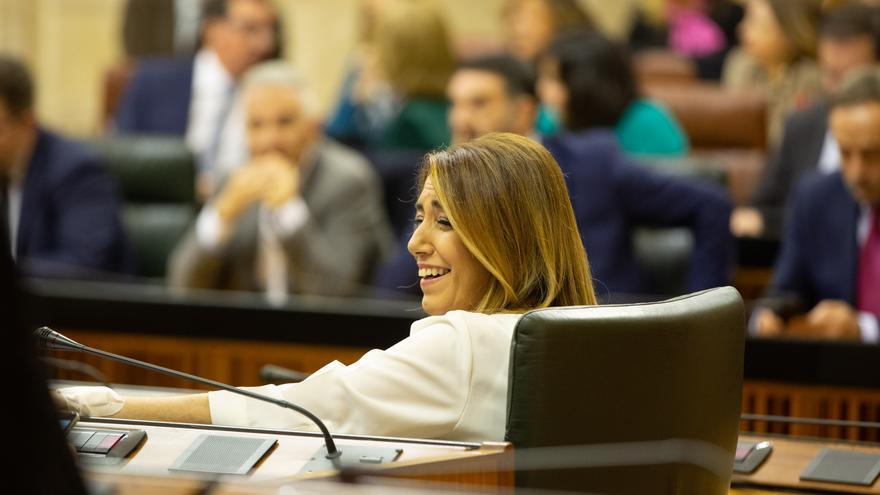 Susana Díaz durante la sesión constitutiva del Parlamento andaluz de la XI legislatura