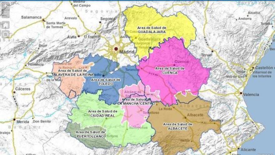 Anterior Mapa Sanitario de Castilla-La Mancha