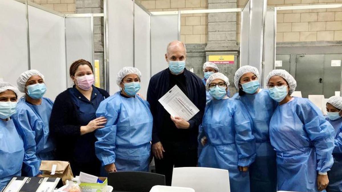 Larreta recibió la primera dosis de la vacuna contra el Covid-19