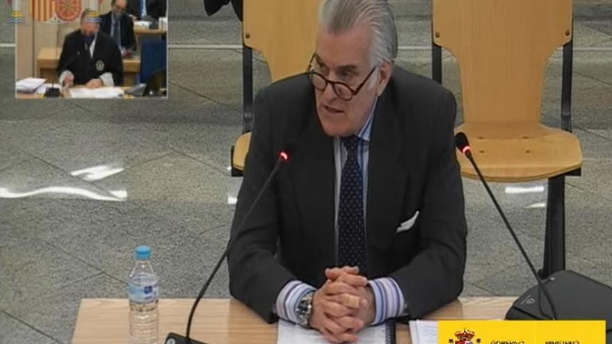 Luis Bárcenas, en el juicio de la caja 'b' del PP en la Audiencia Nacional