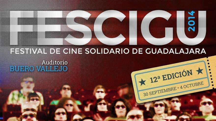 Cartel Festival de Cine Solidario de Guadalajara 2014