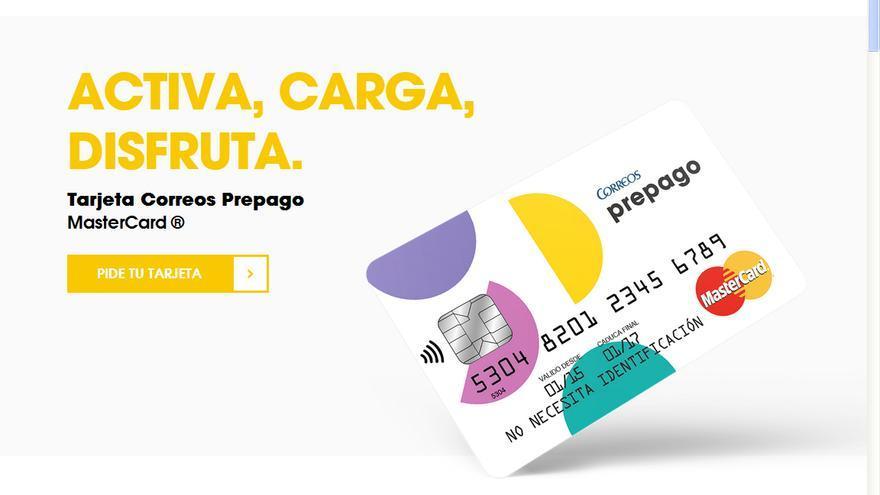 La tarjeta prepago de Correos.