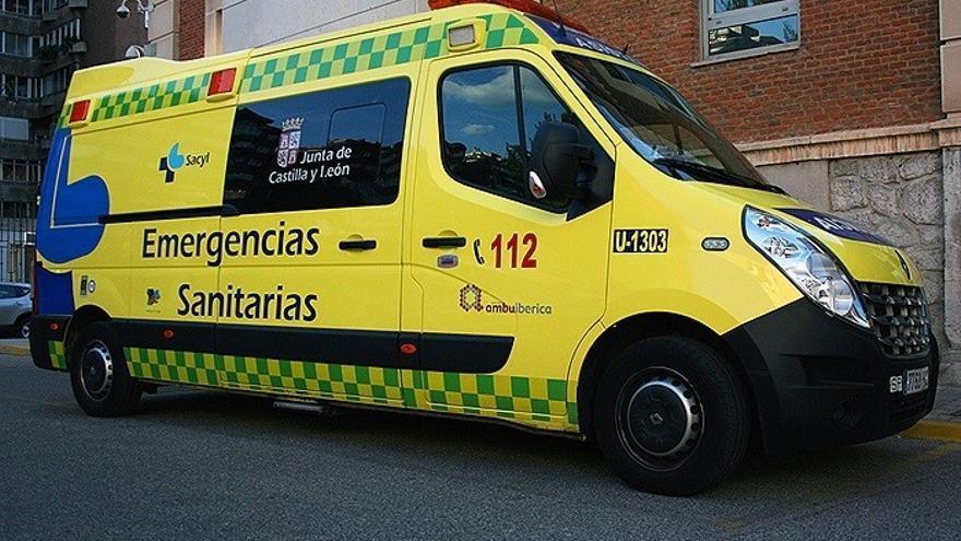 Ambulancia del Servicio de Emergencias 112 de la Junta de Castilla y León.
