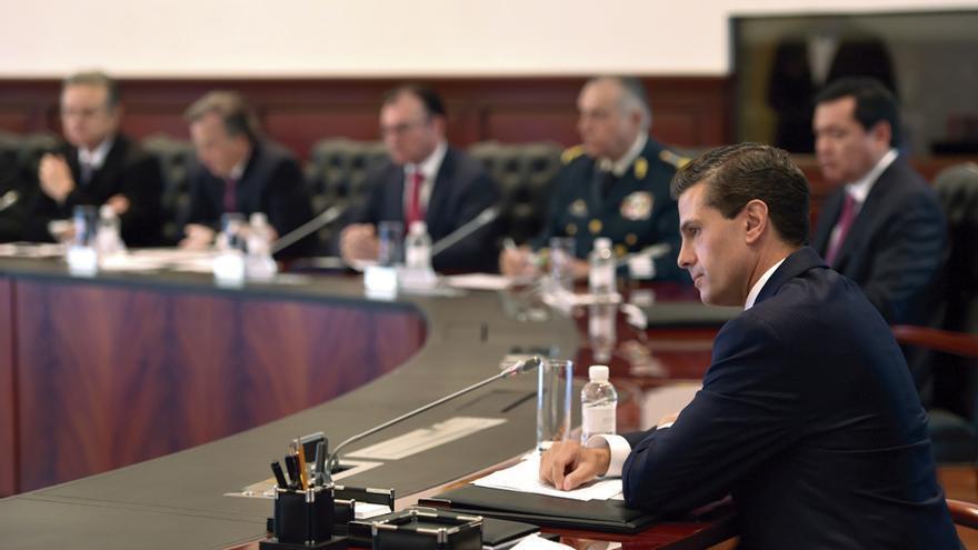 El presidente mexicano, Enrique Peña Nieto, durante una reunión de su Gabinete.