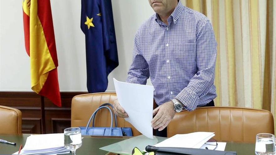 El técnico de mantenimiento aéreo Jesús Torroba, durante su comparecencia en la comisión de investigación del accidente de Spanair