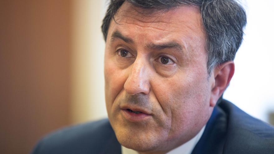 Fernández Mañanes, en la sede de la Consejería, durante la entrevista con eldiario.es. | ROMÁN GARCÍA AGUILERA