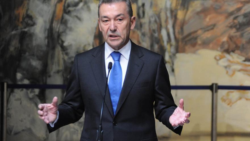 Paulino Rivero, en la rueda de prensa posterior al Consejo de Gobierno celebrado este lunes   Gobierno de Canarias