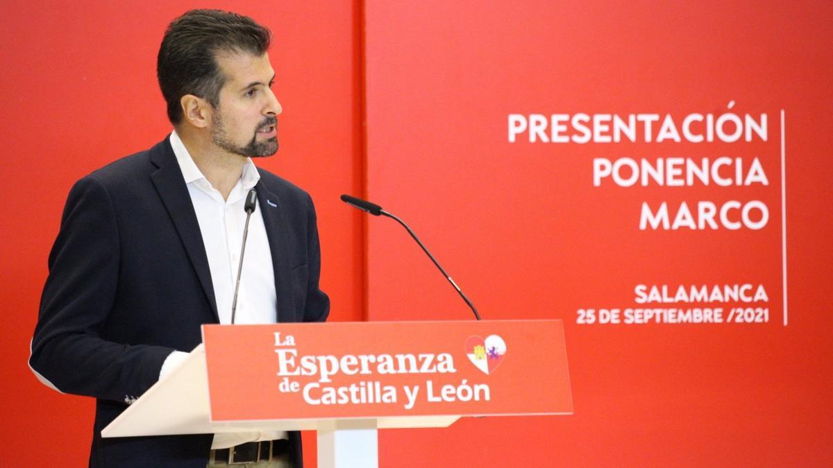 El secretario general del PSOE de Castilla y León, Luis Tudanca.