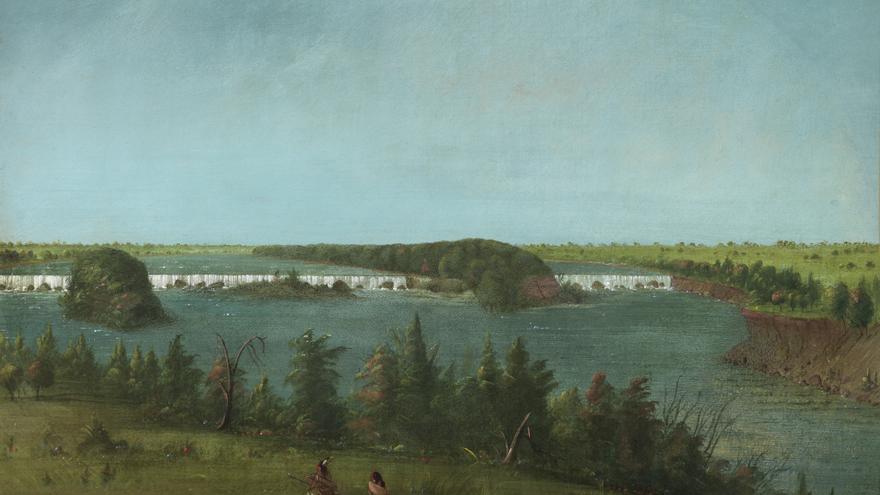 'Las cataratas de San Antonio' (1871), de George Catlin