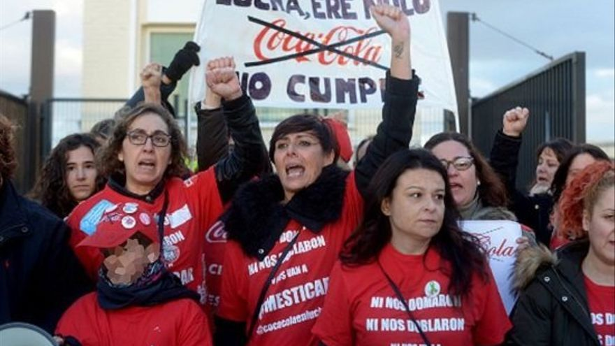 """Las mujeres de Coca-Cola en lucha son conocidas como """"las espartanas"""""""
