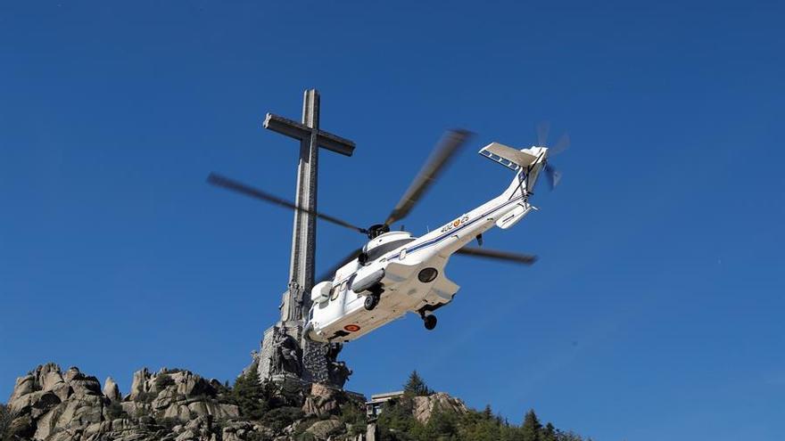 Franco en el helicóptero