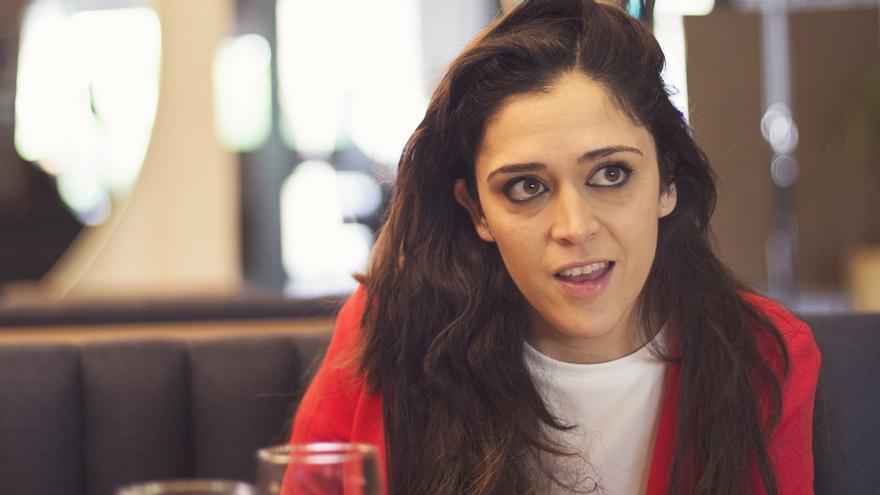 Alexandra Gil, durante la entrevista con eldiario.es | Foto: David Conde