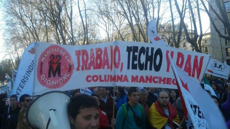 La 'columna manchega' en la marcha en Madrid