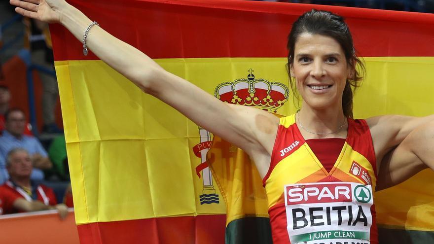 Ruth Beitia consiguió la primera medalla de la delegación española.