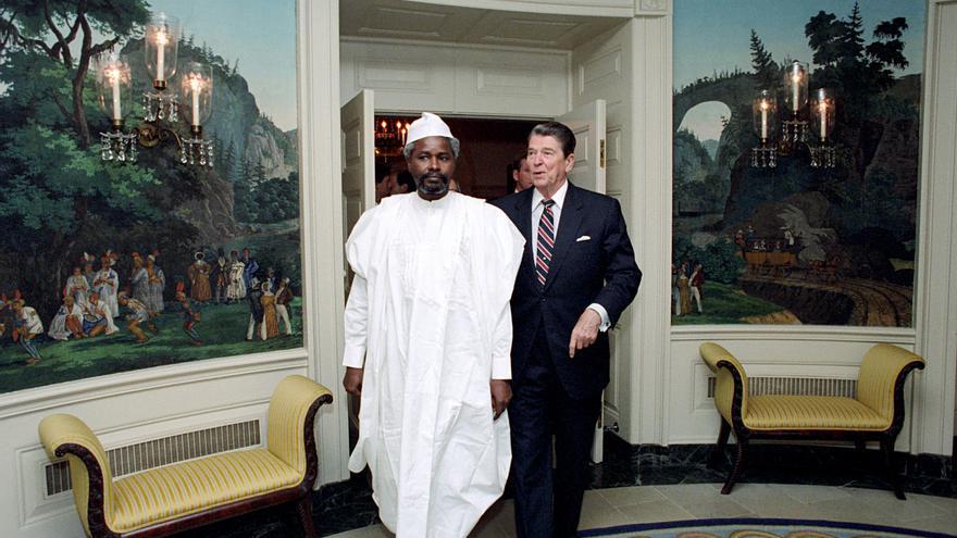 El 19 de junio de 1987, Habré y Reagan se entrevistaron en la Casa Blanca. / Foto cortesía de Ronald Reagan Library.