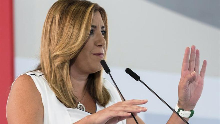 "Susana Díaz se suma al tuit de Patxi López: ""Me duele el PSOE"""