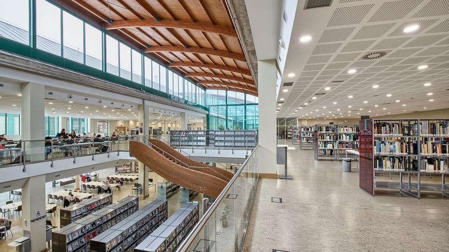 Instalaciones de la Biblioteca Central de Cantabria en Santander.