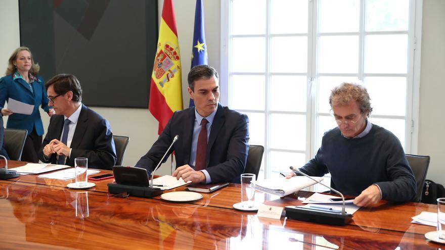 La comisión interministerial de este martes, presidida por Pedro Sánchez.
