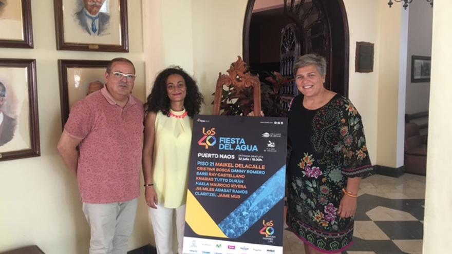 Presentación del cartel de los 40 principales Fiesta del Agua 2017.