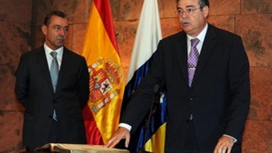 Domingo Berriel, en la toma de posesión. (ACFI PRESS)