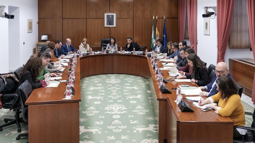 La junta de portavoces del Parlamento andaluz.