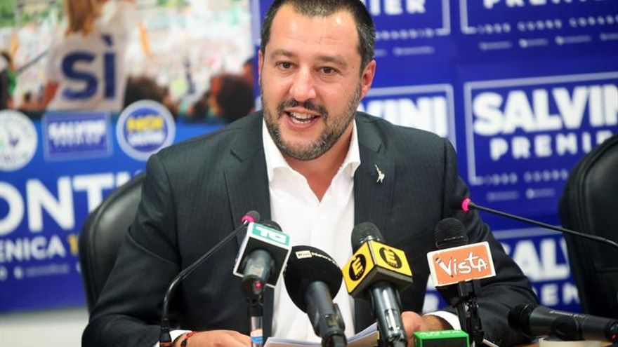 El líder de la ultraderechista Liga, Matteo Salvini.