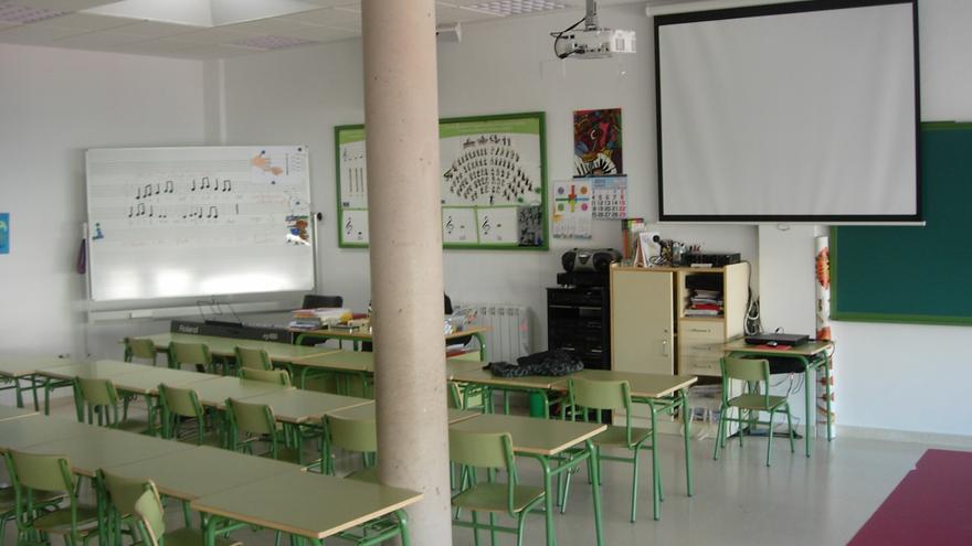Aula de clases en Castilla-La Mancha