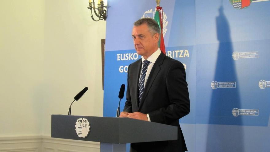 """Urkullu desconoce """"cuáles son las sumas"""" que hace Sánchez para una posible investidura si apunta a Podemos y C's"""