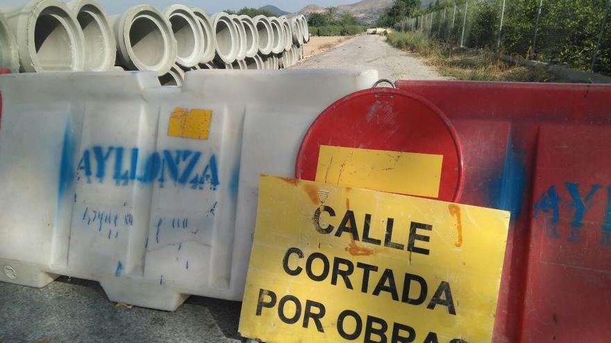 Huermur denuncia el entubamiento de cauces de riego en al pedanía de Cobatillas