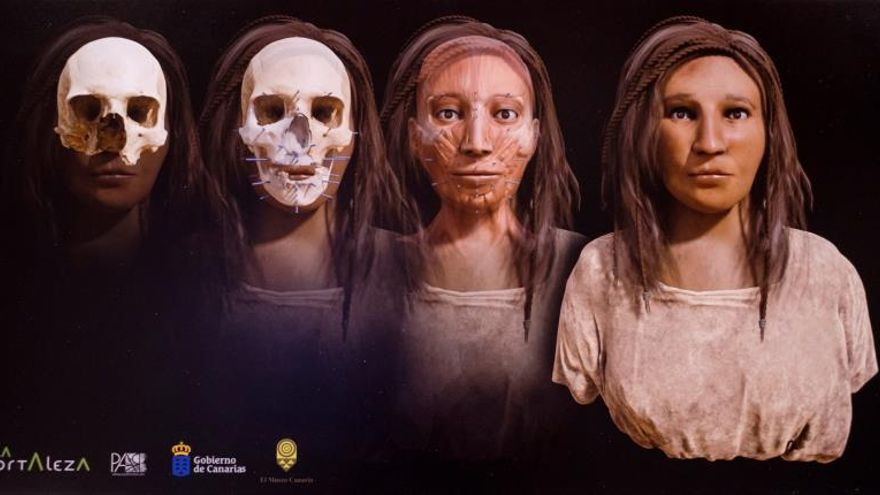 El rostro de una aborigen canaria emerge 1.500 años después