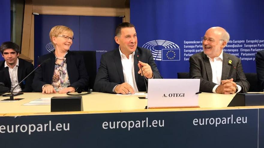Arnaldo Otegi, el 6 de octubre en Bruselas.