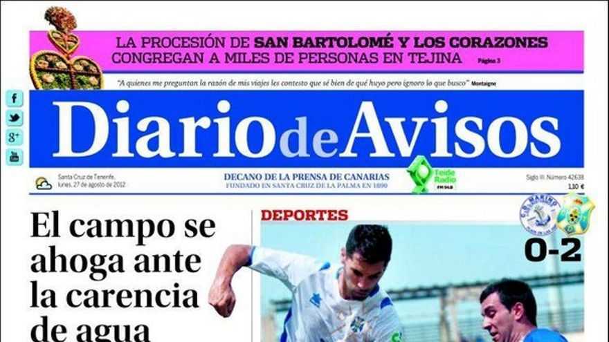 De las portadas del día (27/08/2012) #2