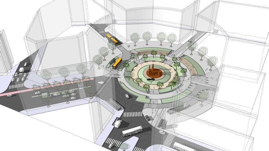 El Ayuntamiento de Las Palmas de Gran Canaria inicia el próximo lunes la peatonalización de la Plaza de España