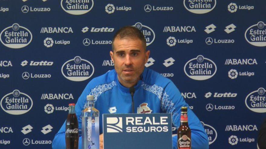 El entrenador del RC Deportivo de La Coruña, Gaizka Garitano.