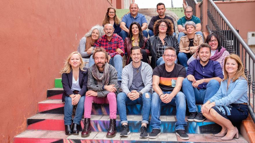 Integrantes de la plancha electoral de Podemos en Los Realejos