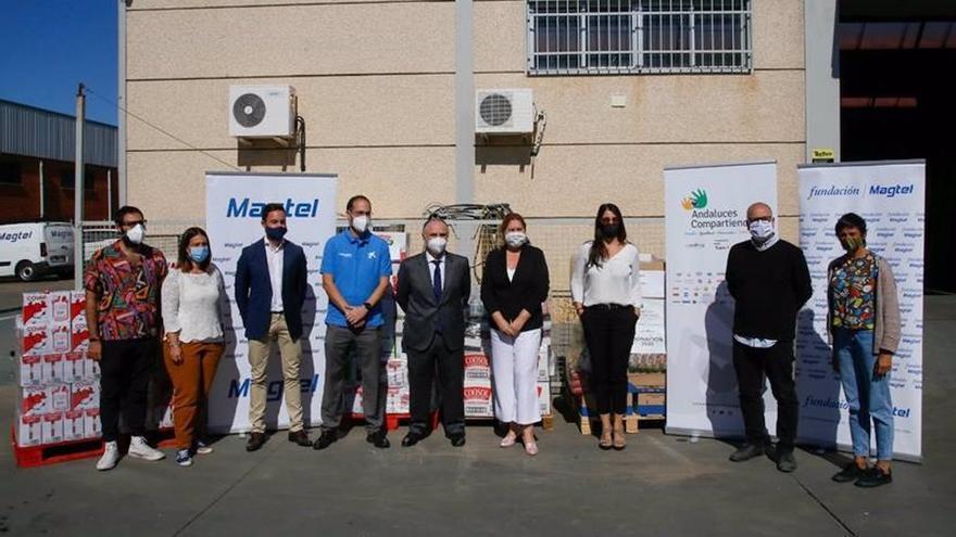 Representantes de las instituciones participantes en el programa 'Andaluces Compartiendo'.