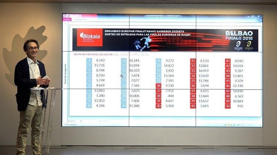 La Diputación de Bizkaia sortea las cien entradas para las finales de Rugby entre las 16.588 personas inscritas