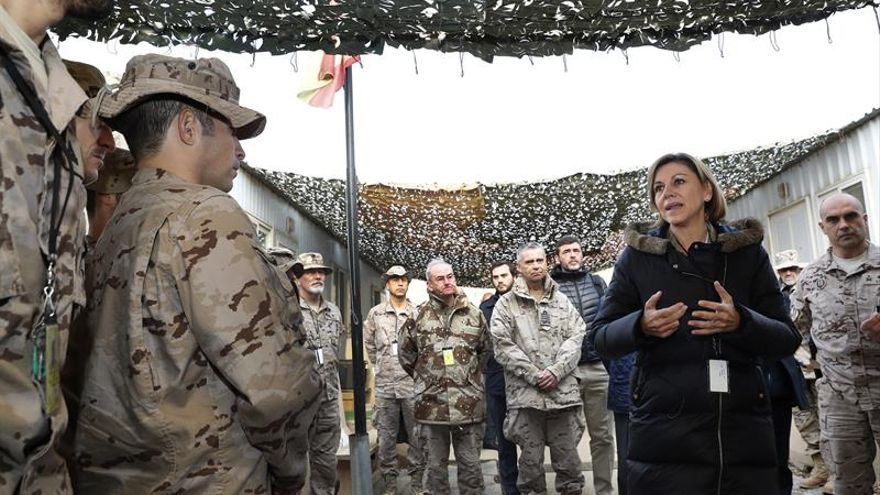 Cospedal a los militares en Irak: Sois la cara visible de la política exterior