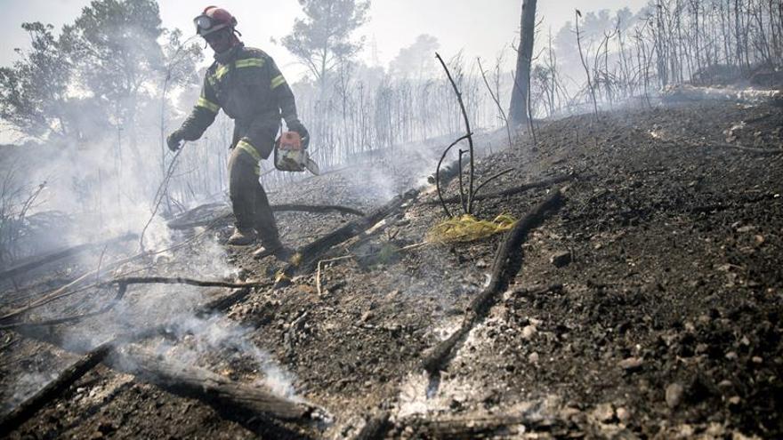 El incendio de la Sierra de la Calderona sigue estabilizado y sin llamas