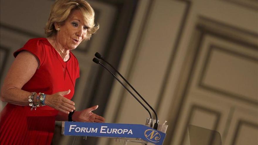 """Aguirre pide acabar con los """"mentirosos y las mentiras"""" de la política española"""